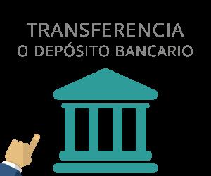 Transferencia o Depósito Bancario